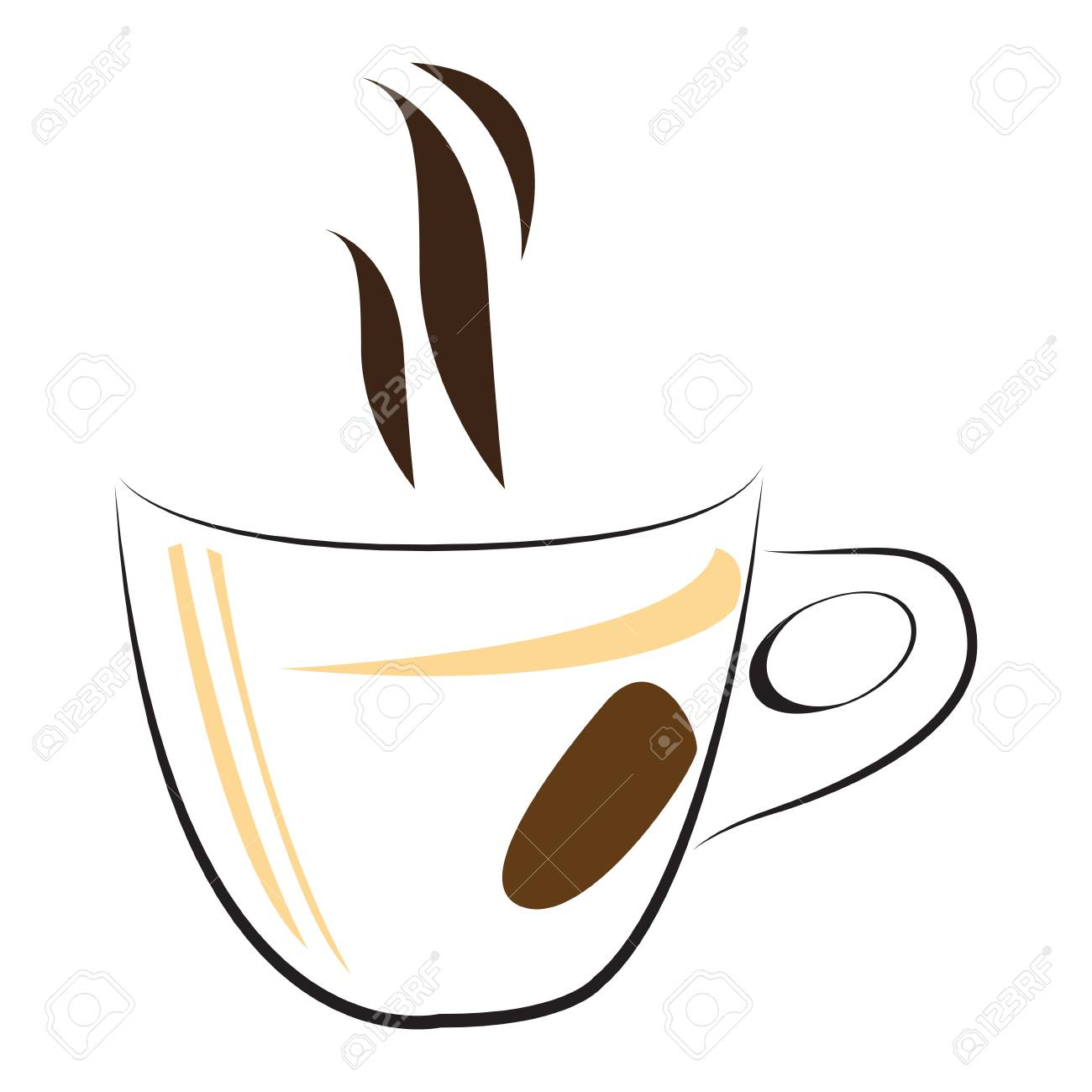Isolated abstract coffee mug logo, Vector illustration.