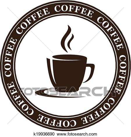 Abstract coffee cup Clipart.
