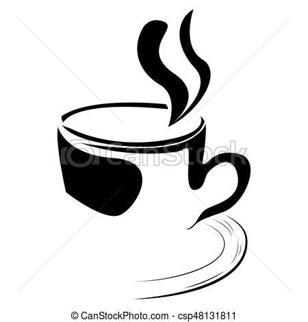 Isolated coffee mug logo.