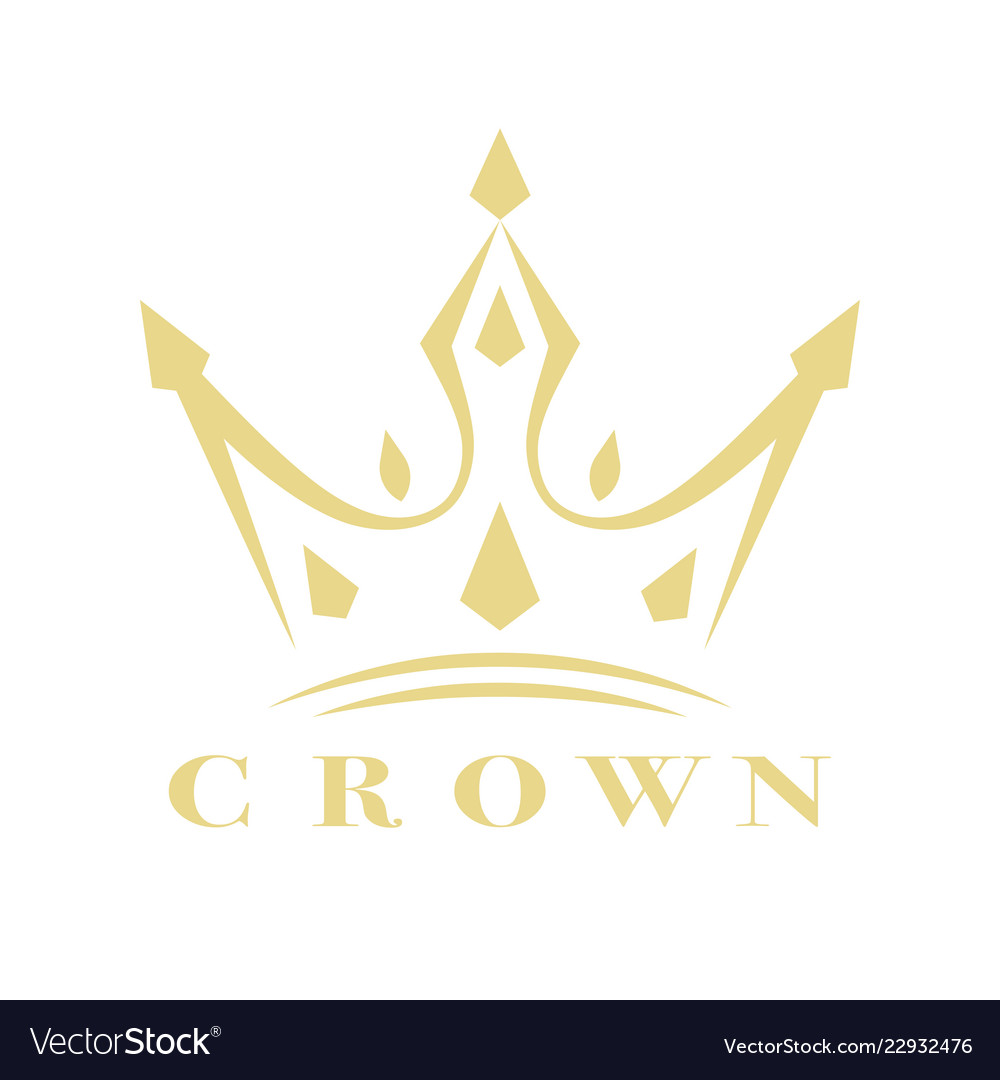 Vintage crown logo royal king queen abstract logo.