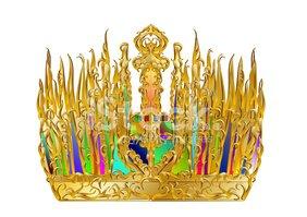 Golden Abstract Crown stock vectors.