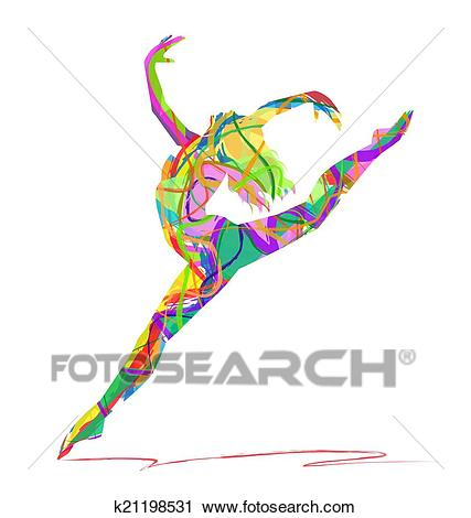 Abstract dance Clipart.
