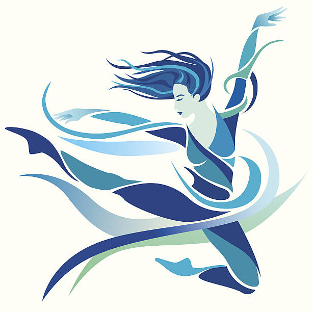 Best Abstract Dancing Illustrations, Royalty.