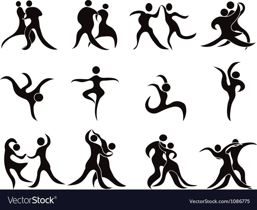 Collection of abstract dancers.
