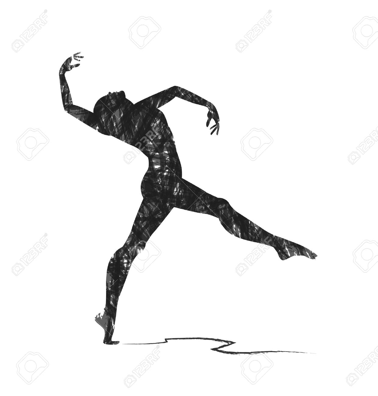 Abstract Dancer Silhouette.