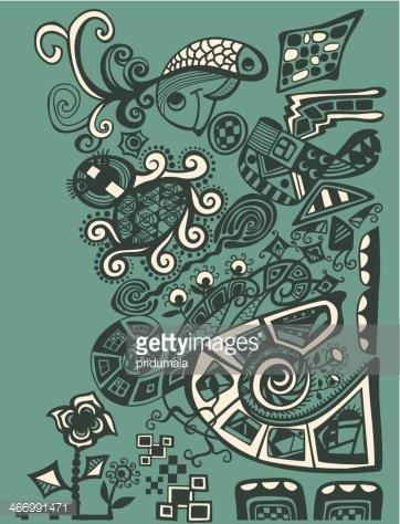Vector abstract illustration, decorative design Clipart.