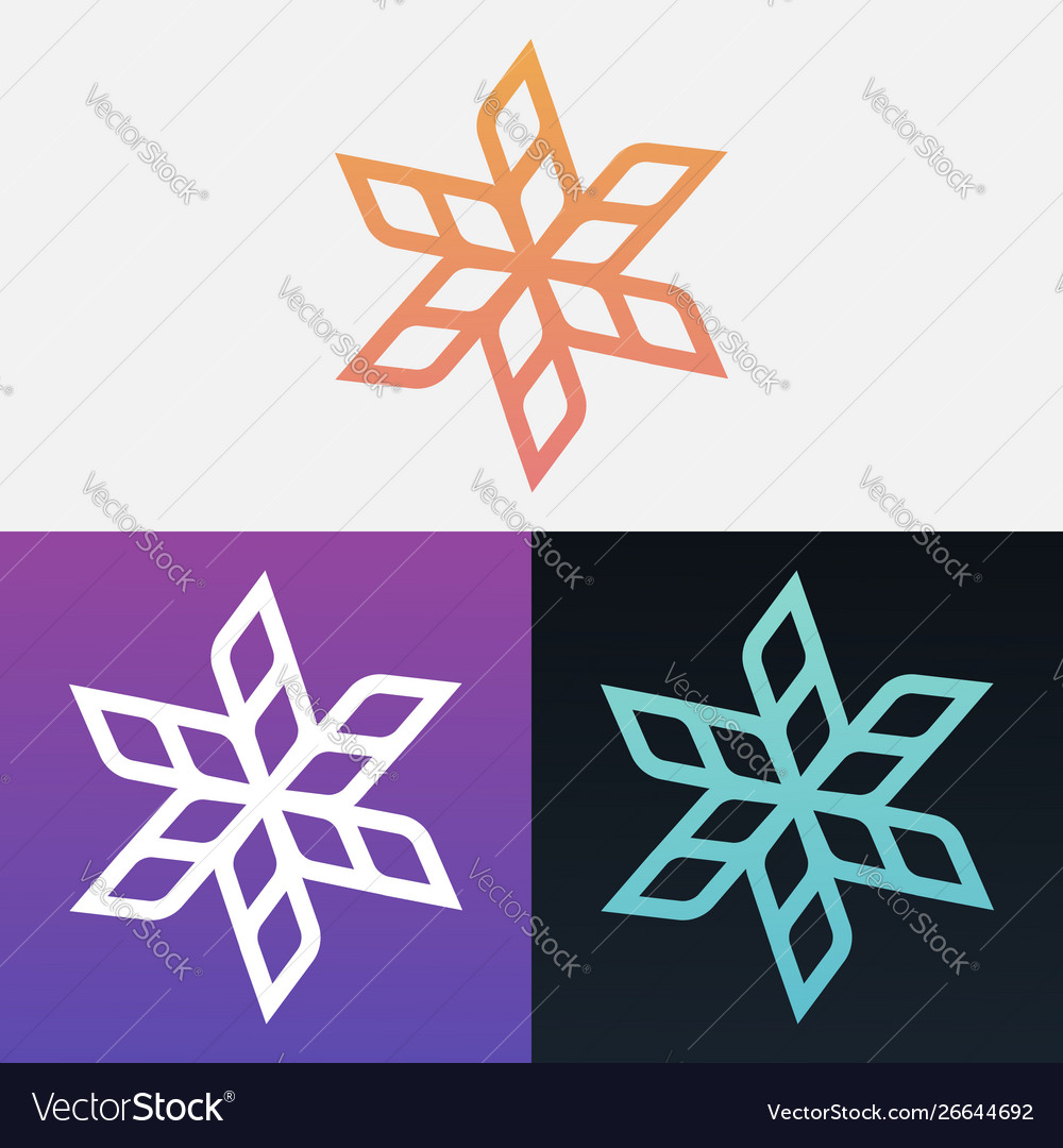 Abstract decorative leaves design clipart symbol.