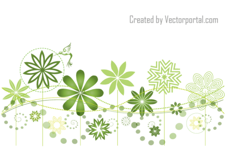 Abstract Floral Garden Vector Background Design, Vector File.