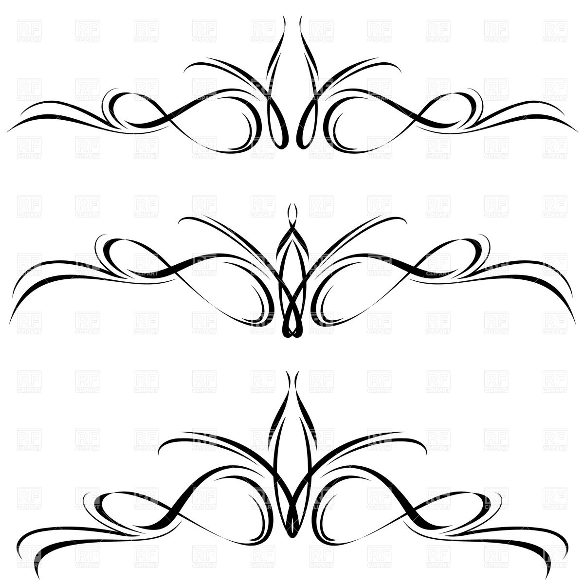 Abstract Line Designs Clipart.