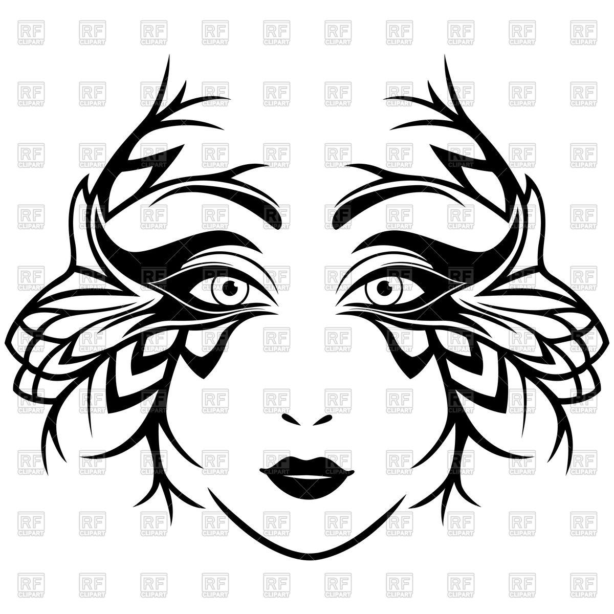 Female Face Vector at GetDrawings.com.
