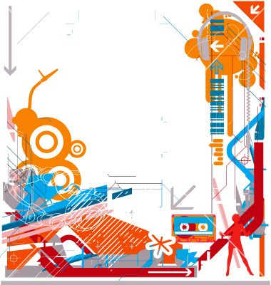 Free abstract dj music background vector on VectorStock.