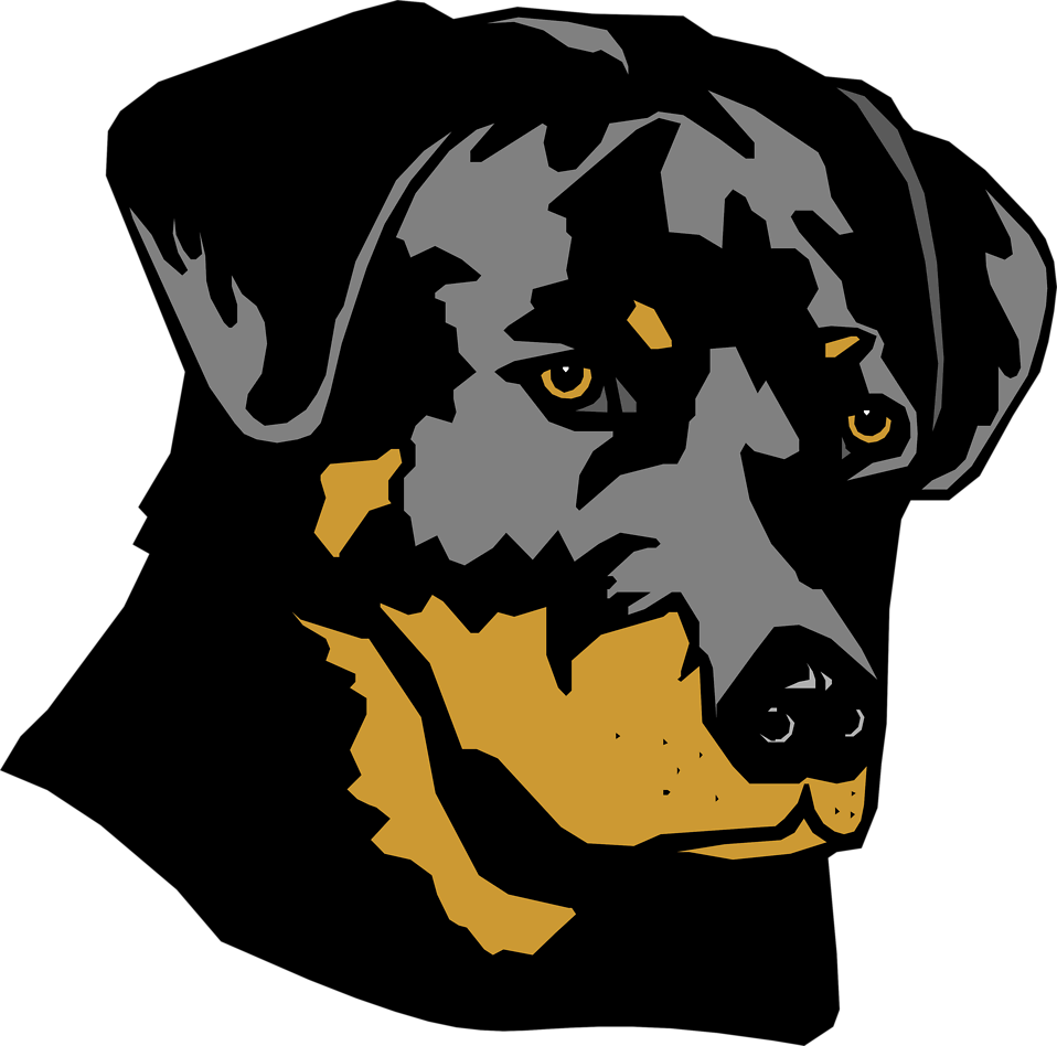 Dogs Vector Abstract.