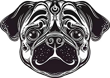 Amazon.com: Cool Abstract Futuristic Pug Bully Puppy Dog.