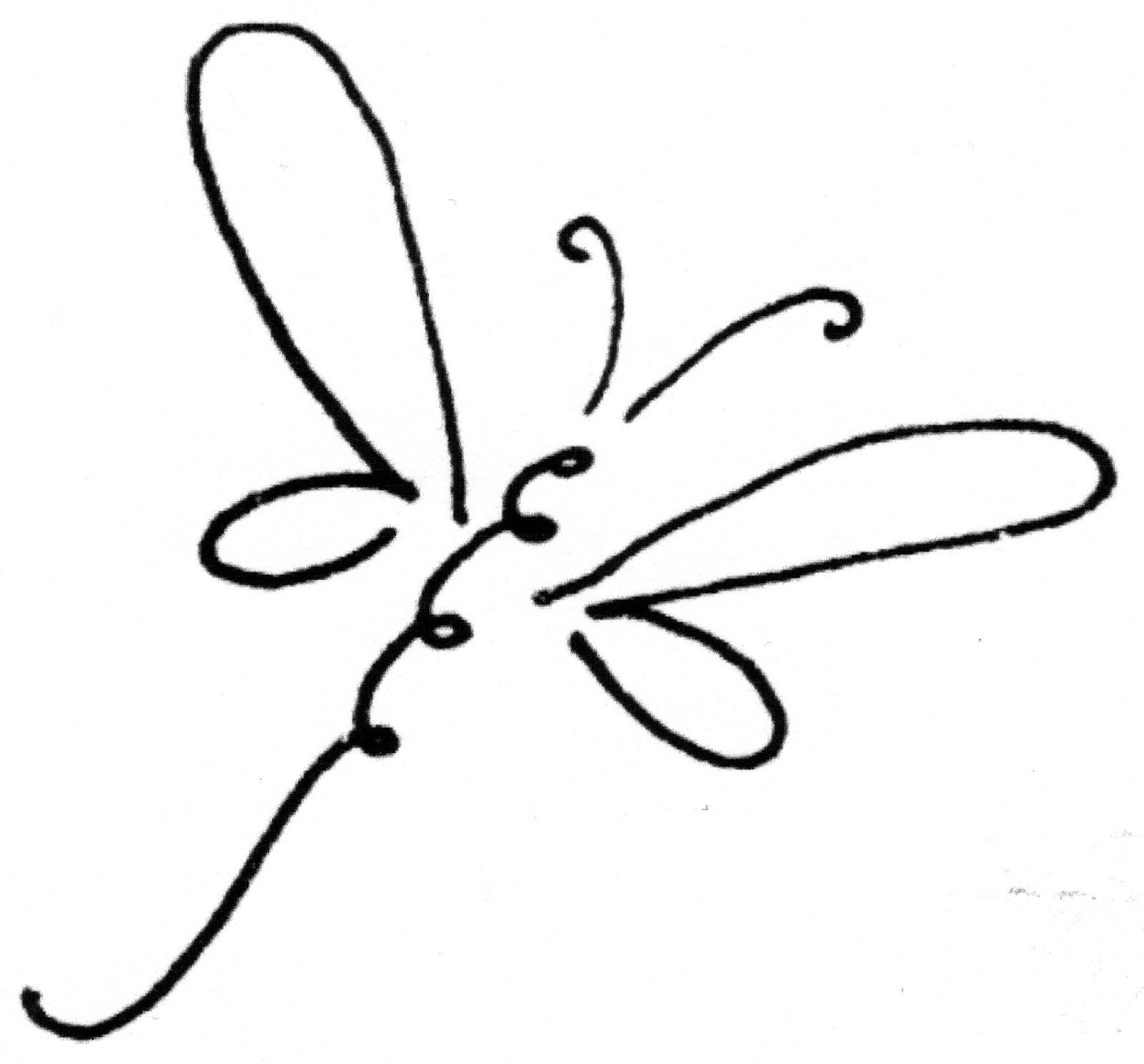 1409 Dragonfly free clipart.