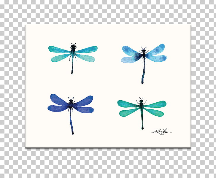 Abstraction 30 Watercolor painting Abstract art Dragonfly.