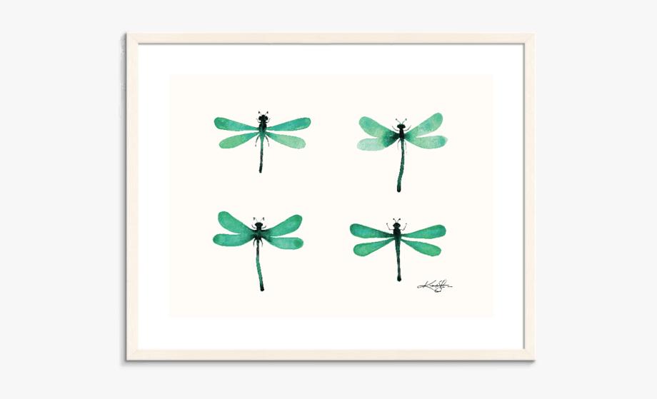 Four Dragonflies 4 Wall Art.