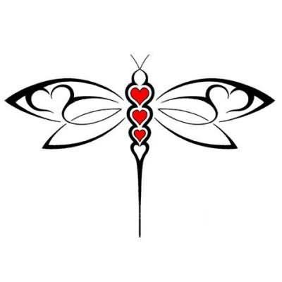 Abstract Dragonfly Tattoo Design.