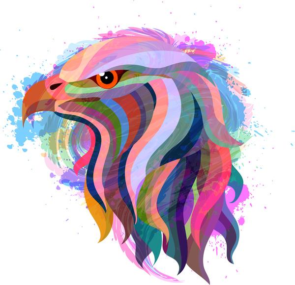 Eagle head abstract Free vector in Adobe Illustrator ai.