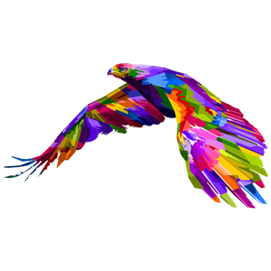 Prismatic Geometric Eagle clipart, cliparts of Prismatic.