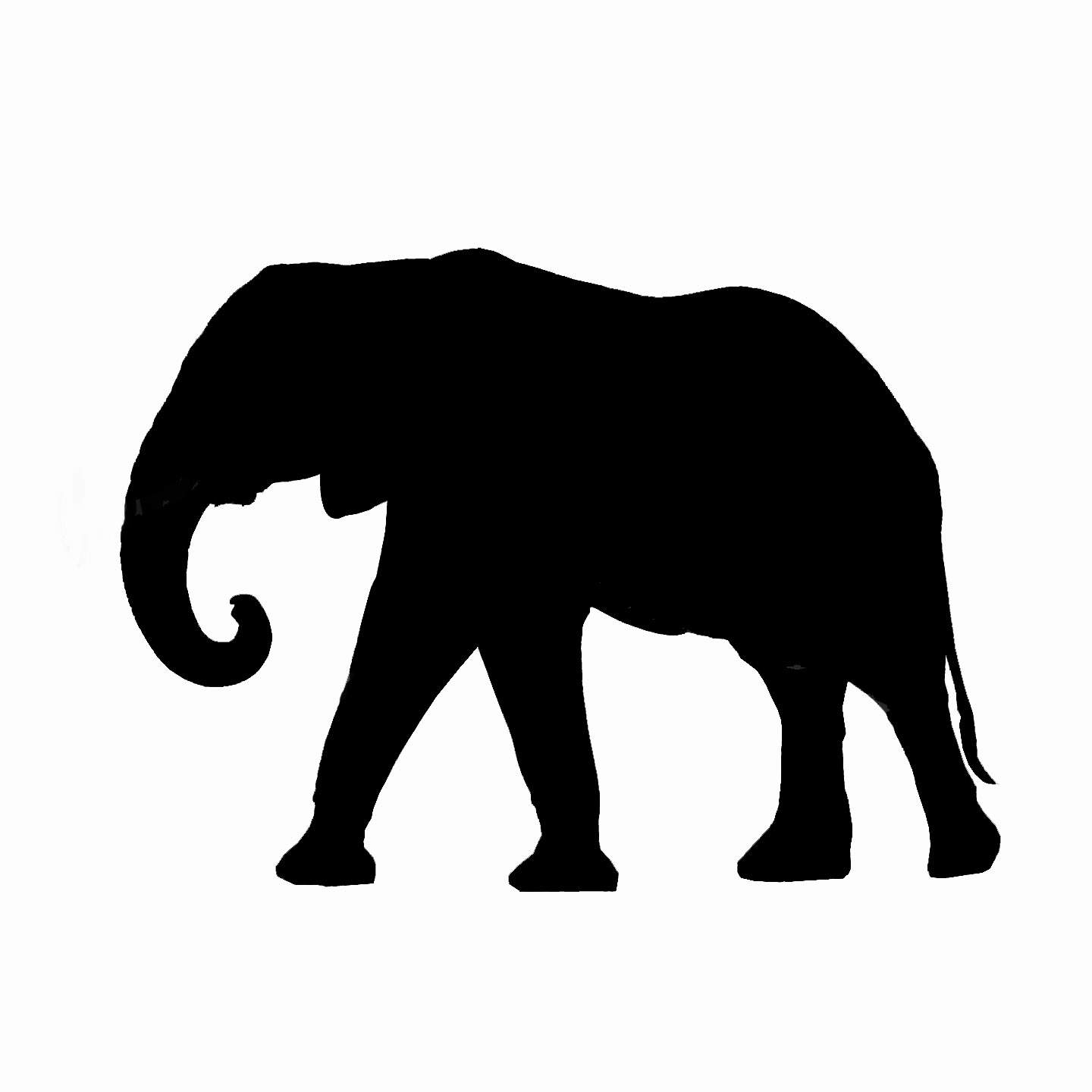 Abstract Elephant Clipart.