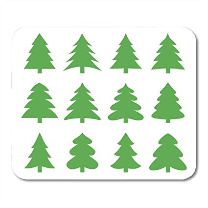 Amazon.com : Boszina Mouse Pads Clipart Green Evergreen.