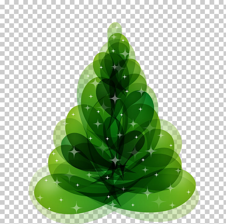 Christmas tree , Green abstract tree pattern PNG clipart.