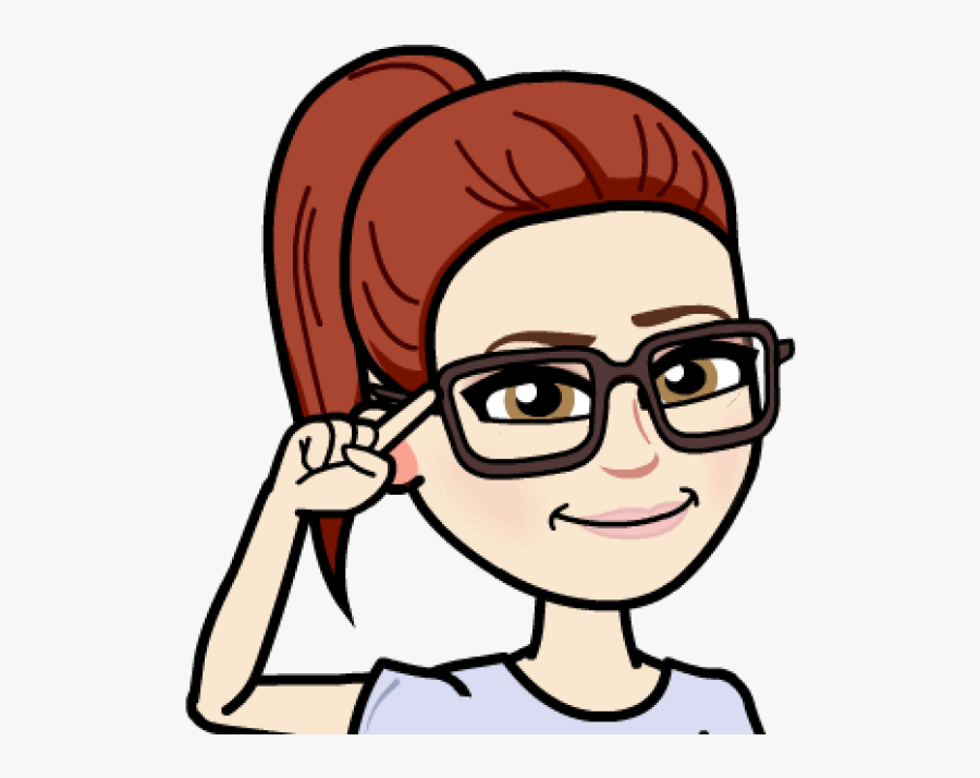 Bitmoji Girl With Brown Hair And Glasses Clipart ,.