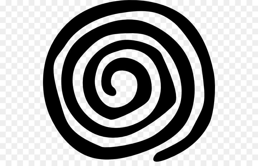 Spiral Silhouette Clip art.