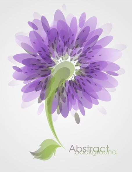 Abstract Flower Background Vector Art Clipart Picture.