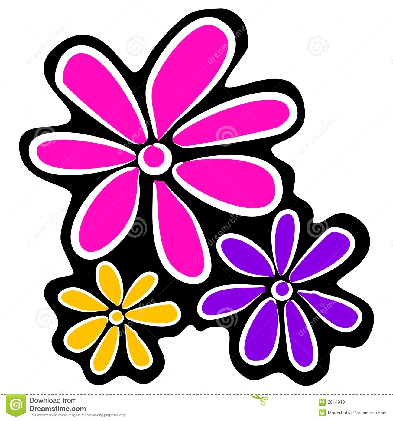 37258 Flower free clipart.