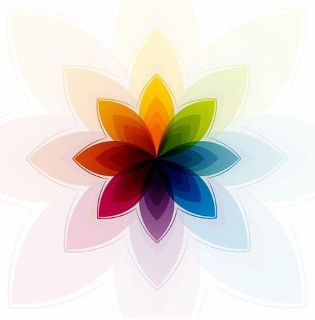Colorful Abstract Flower Clipart Picture Free Download.
