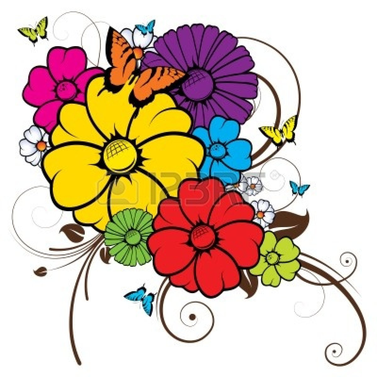 Free Flowers And Butterflies Clipart, Download Free Clip Art.