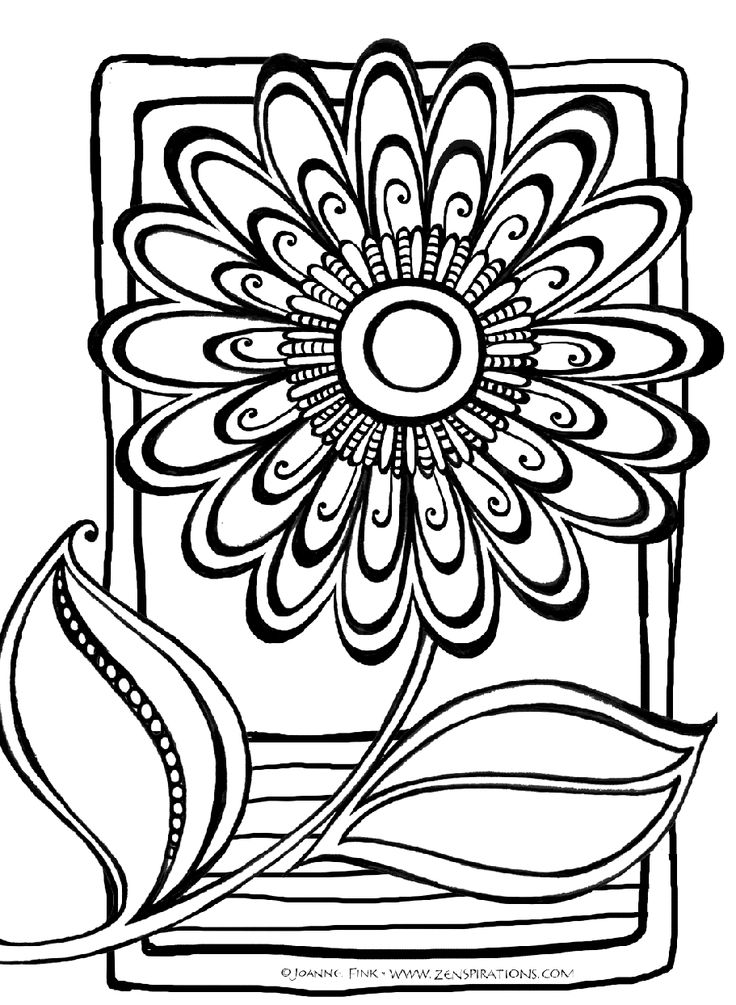 Abstract Flower Coloring Pages at GetDrawings.com.