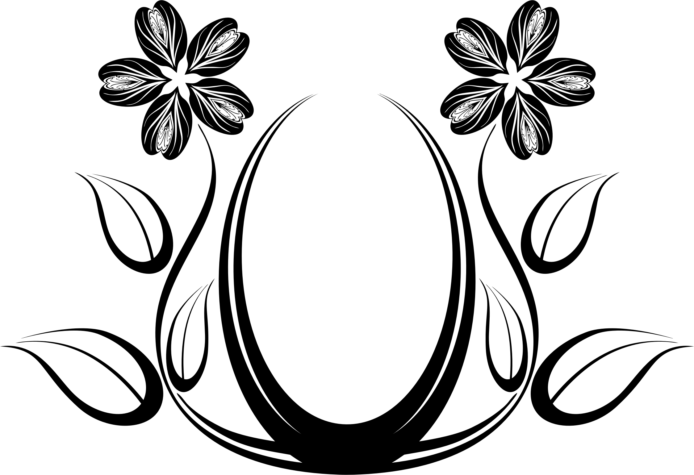 Abstract Floral Clipart.
