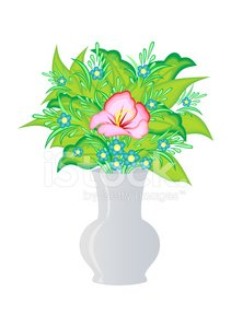 Abstract Flowers IN Vase premium clipart.