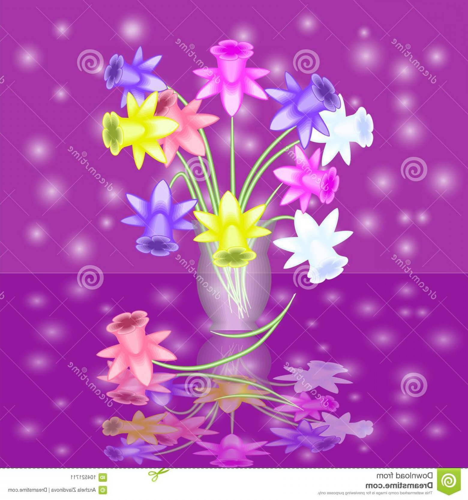 Vase clipart abstract flower, Vase abstract flower.