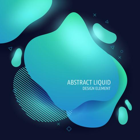 Abstract modern flowing liquid shapes design elements.