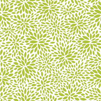 seamless abstract green leaf pattern, foliage vector.