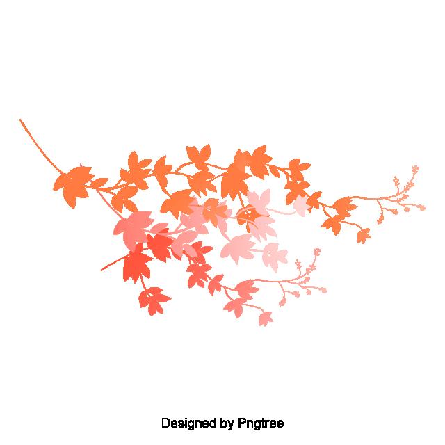 Cartoon Simple Hand Painted Autumn Leaf Design, Leaves.
