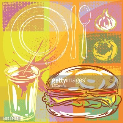 Abstract Food Background Clipart Image.