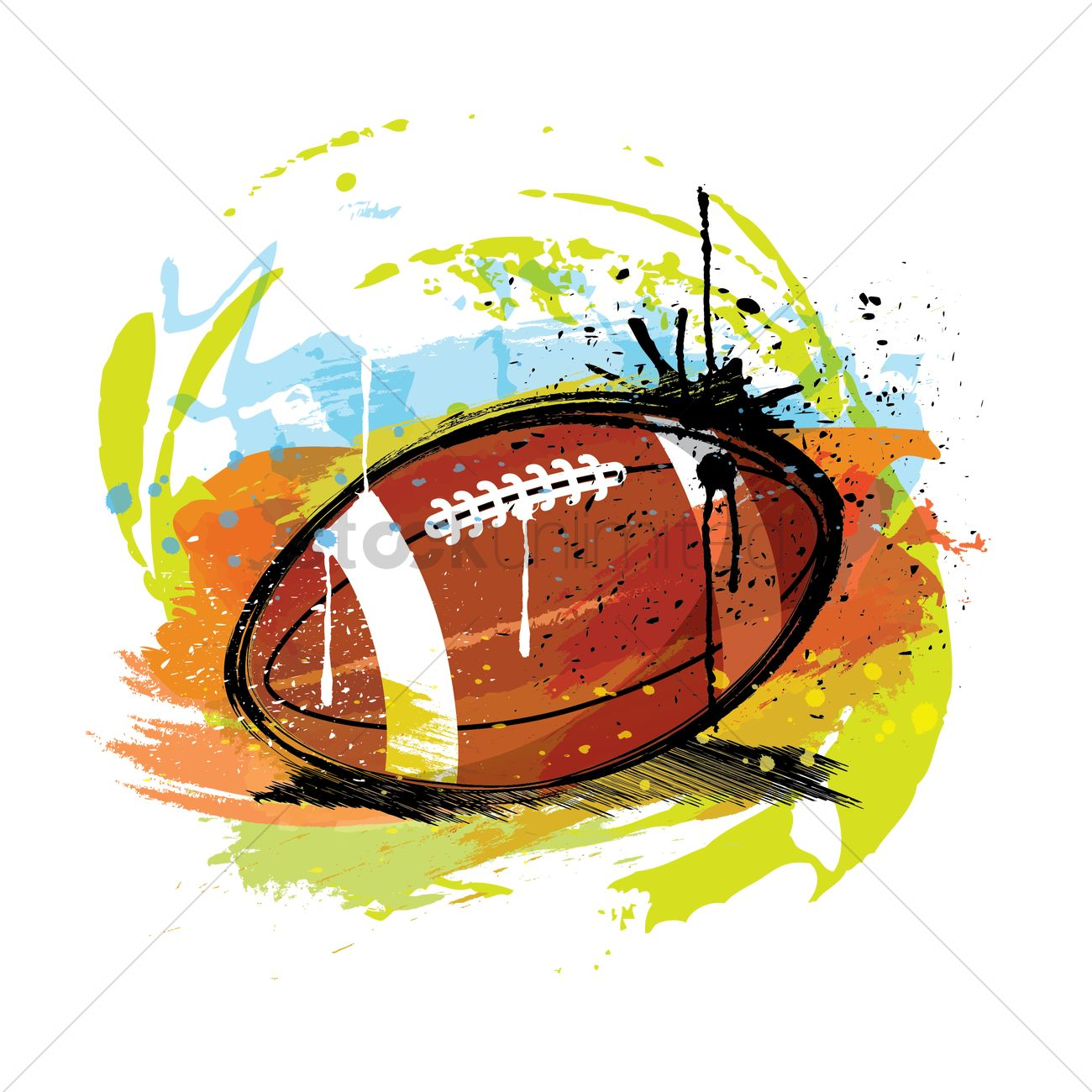 Abstract american football Vector Image.
