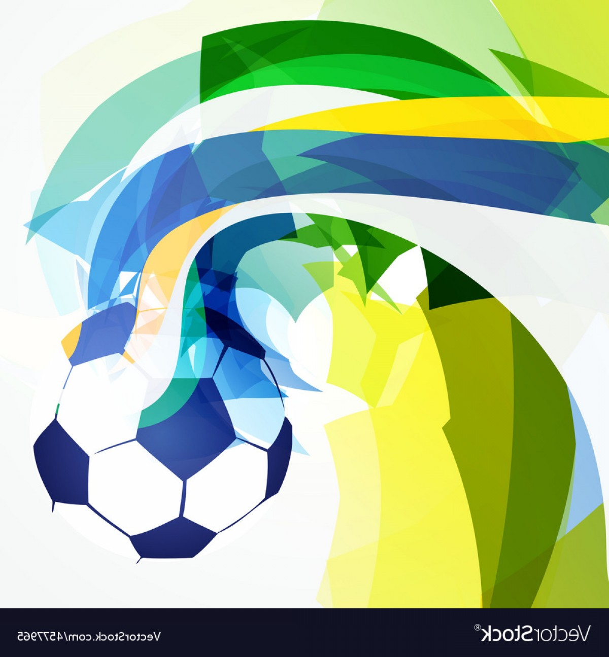 Stylish Abstract Football Design Vector.