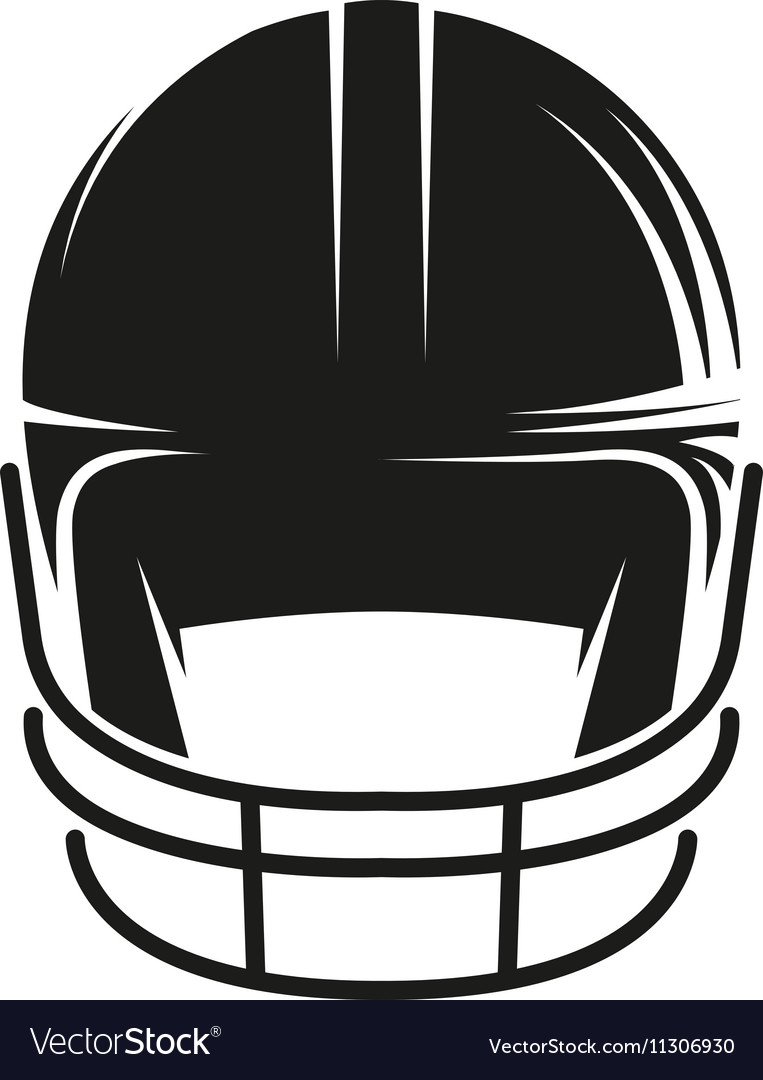 Isolated abstract black color baseball helmet logo.
