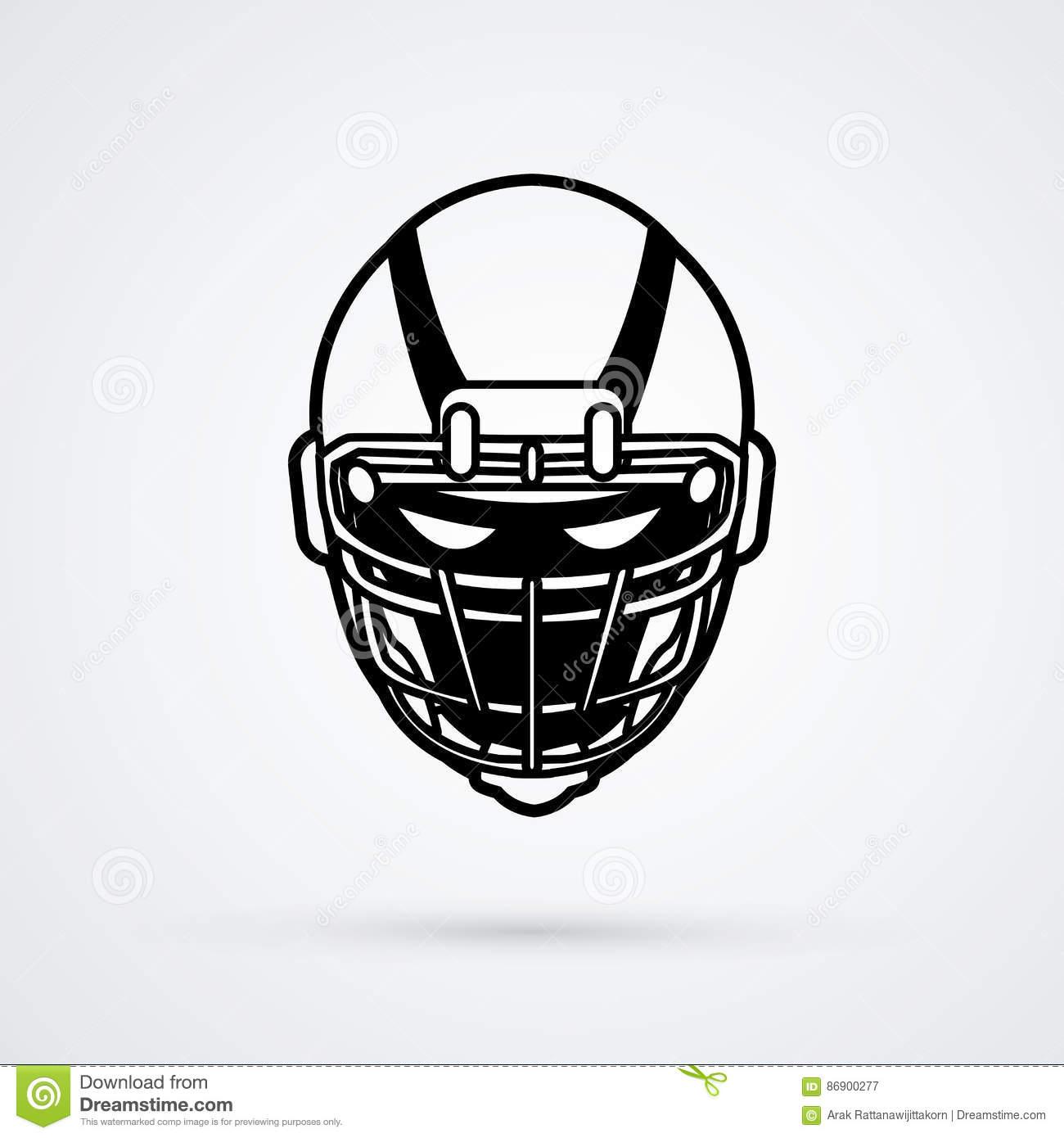 American football helmet stock vector. Illustration of.