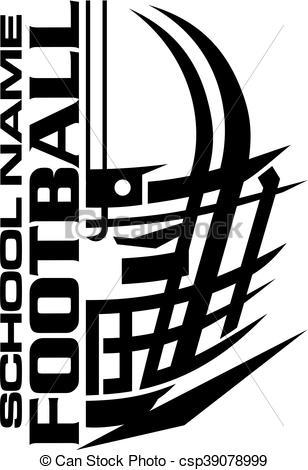 Football Helmet Vector Clipart.