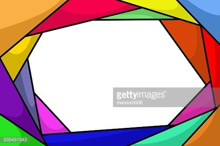 colorful abstract frame Clipart Image.
