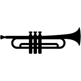 FREE SVG Trumpet Silhouette.