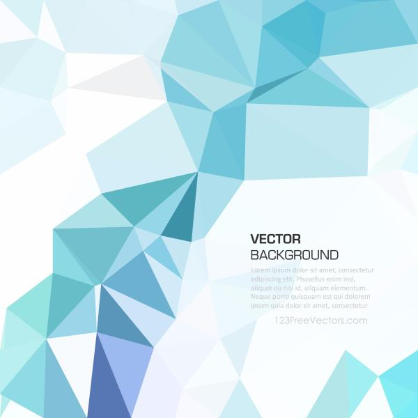 Light Blue Abstract Geometric Polygon Background Clip Art.