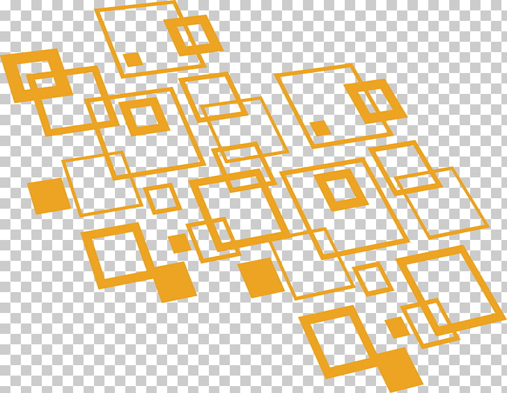 Geometry Pattern, Abstract geometric squares, orange boxes.