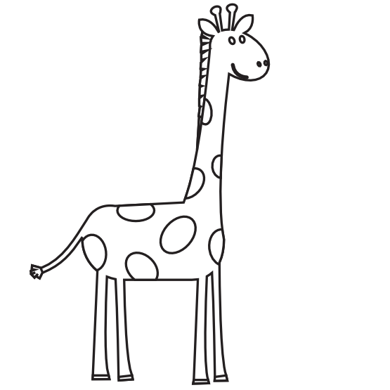 Clipart giraffe abstract, Clipart giraffe abstract.